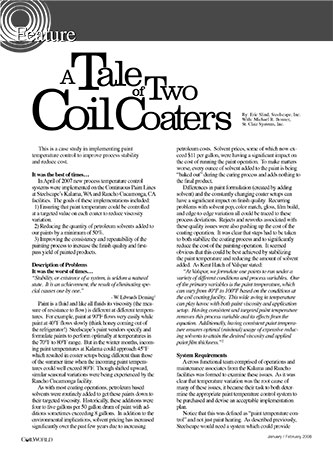 A Tale of Two Coil Coaters Coil World