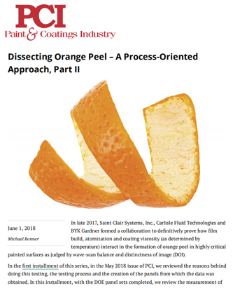 Dissecting Orange Peel
